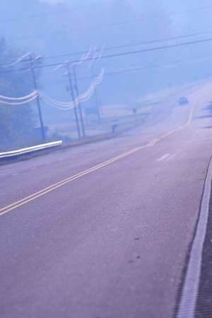 straight path: One road. Stock Photo