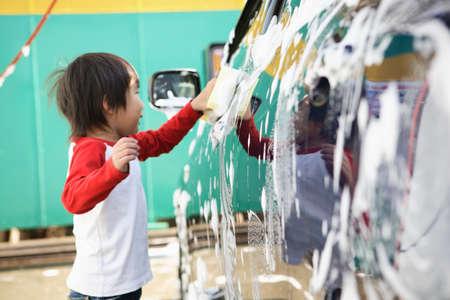 lavamanos: Los niños de lavado de coches