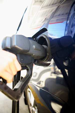 refueling: Refueling of passenger cars Stock Photo
