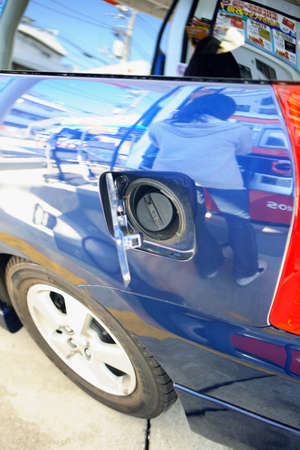 refueling: Refueling port of the car Stock Photo