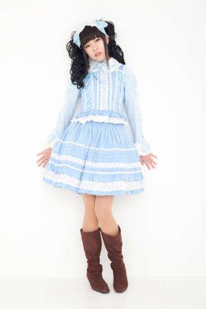 one piece dress: Lolita fashion women Stock Photo