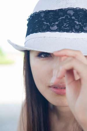 woman wearing hat: Woman wearing Hat