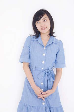 one piece dress: Female portrait Stock Photo