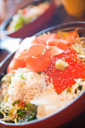 rawness: Seafood rice bowl