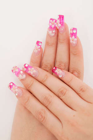 nailcare: Hand that has been subjected to nail art