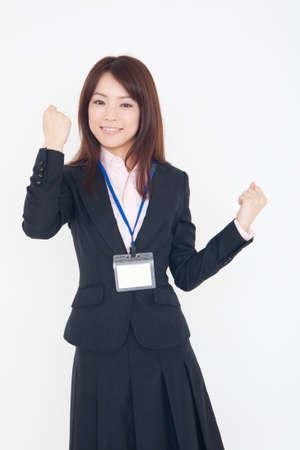 guts: Woman of guts pose Stock Photo