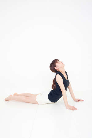 malleable: Woman stretching
