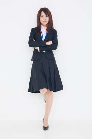 fold ones arms: Womens suits