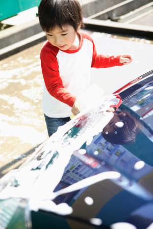 lavamanos: Los ni�os de lavado de coches