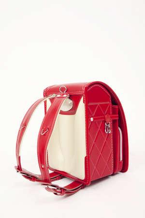 primary colours: School bags Stock Photo