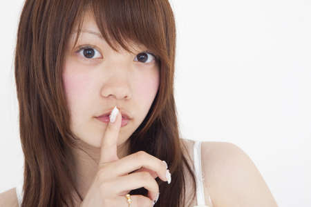 rely: Women rely on finger in mouth