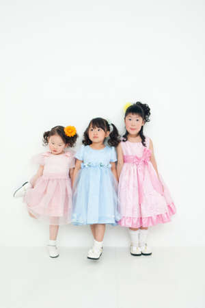 three girls: Three girls wearing a dress