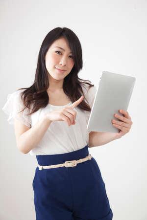 seres vivos: Las mujeres que trabajan con Tablet PC