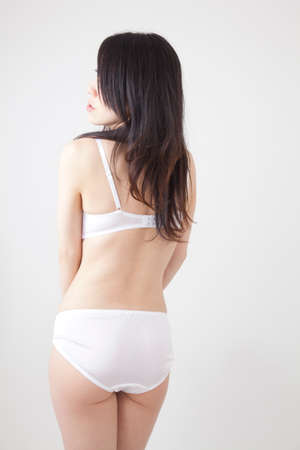 body line: From behind the womens underwear