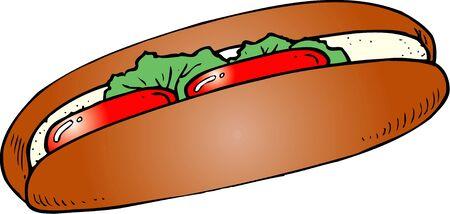 provisions: Hot dog Stock Photo