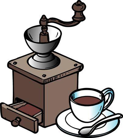 ホット コーヒー コーヒーミル