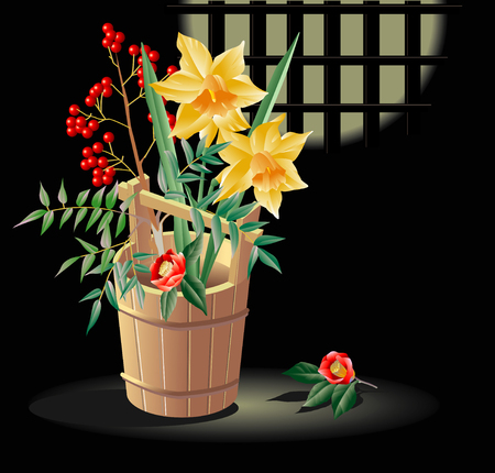 pail: Spring Flowers pail