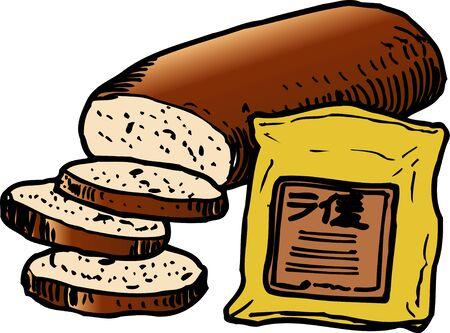 호밀 빵 스톡 콘텐츠
