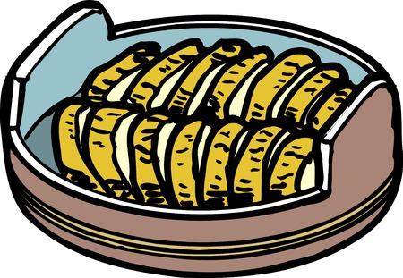 pickles: Takuan Stock Photo