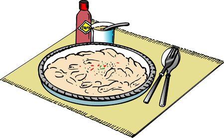 condiment: Au gratin Stock Photo