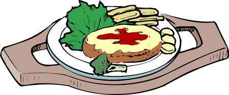 provisions: Hamburger steak