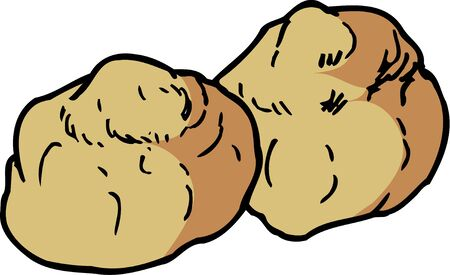 puff pastry: Cream puffs Stock Photo