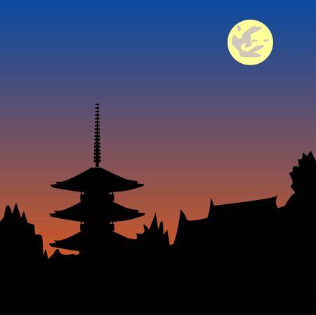 nightfall: Ancient city sunset