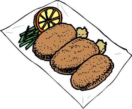 deep fried: Croquettes