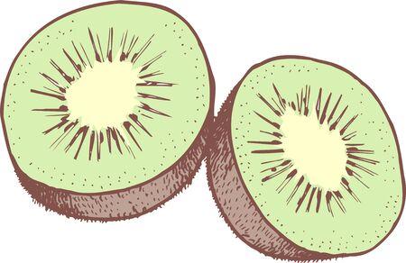 fruitschaal: Kiwi fruit