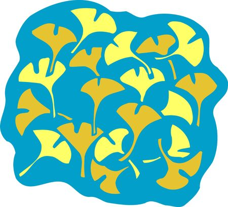 ginkgo: Ginkgo leaves background with Stock Photo