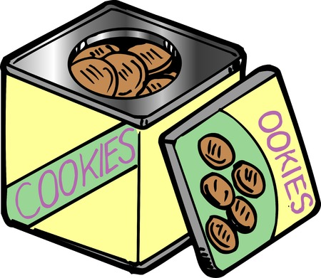 tincan: Cookies Stock Photo