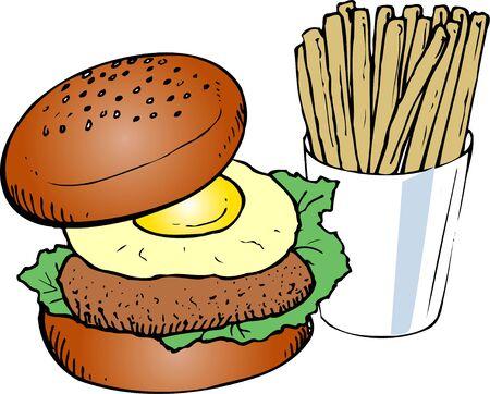 provisions: Burger Stock Photo