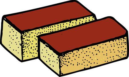 japanese dessert: Sponge cake