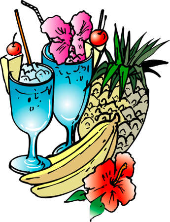 tropical: Tropical drinks Stock Photo