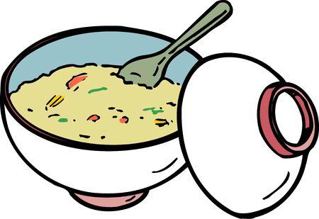 Rice porridge Banco de Imagens