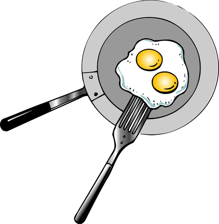 fried: Fried eggs