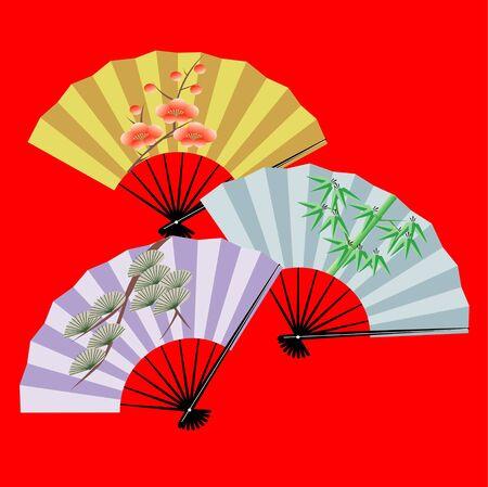 sho chiku bai: Sho Chiku Bai fan Stock Photo