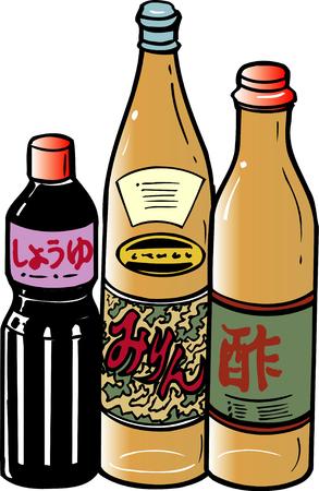 rice wine: Seasoning Stock Photo