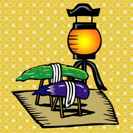 aubergine: Spirit ornament Obon