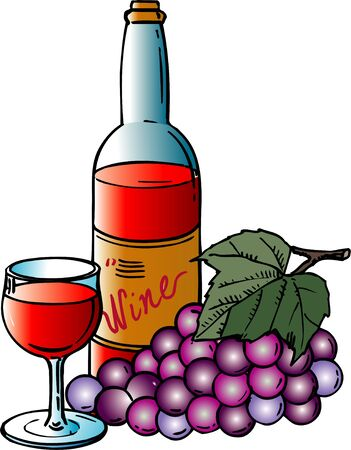 alchoholic drink: Wine grapes