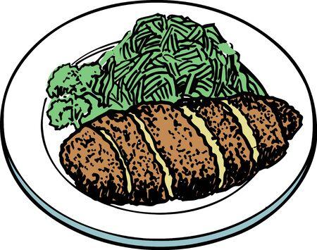 deep fried: Pork cutlet Stock Photo