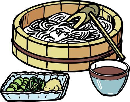 origin of man: Somen noodles