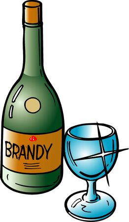 booze: brandy Stock Photo
