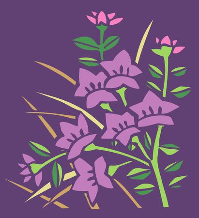 bellflower: Bellflower background with