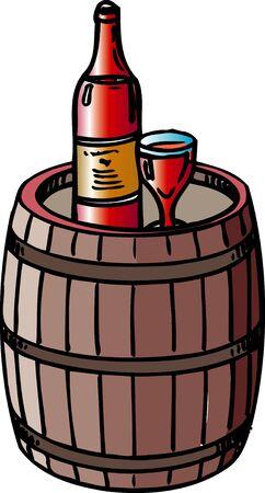 booze: Wine barrels Stock Photo
