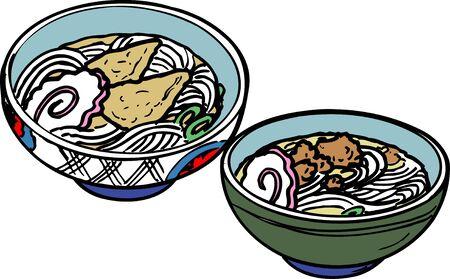 tofu: Noodle with deep-fried tofu raccoon Udon