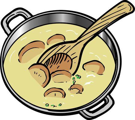mushroom soup: Cream of mushroom soup Stock Photo