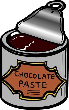 paste: Chocolate paste