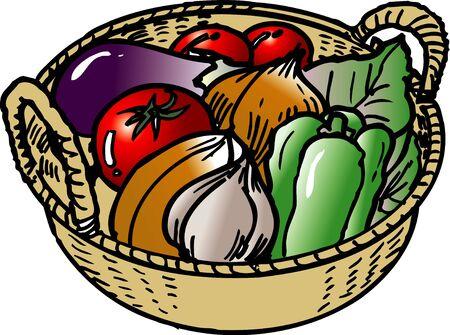 sieve: Teppanyaki vegetable material Stock Photo