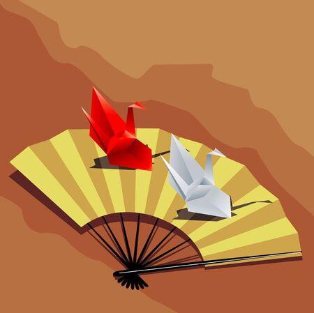 omen: Paper cranes and fan
